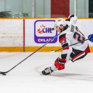 Jack Quinn scores two and notches an assist as the Ottawa 67's score 4 unanswered goals to beat the Sudbury Wolves 6-3 in the annual school day game.